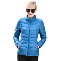 冬装新款羽绒服女轻薄款短款立领大码修身学生休闲外套潮