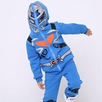 铠甲勇士加厚外套童装男童秋套装儿童加绒两件套新款奥特曼款