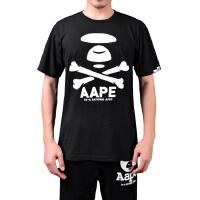 Aape男士骷髅创意印花纯棉短袖T恤0021