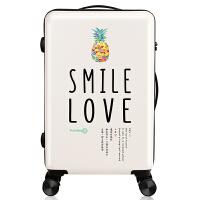 儿童行李箱女20寸学生拉杆箱卡通韩版可爱小清新万向轮密码旅行箱 菠萝[ 米白色]