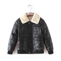春季童装男童外套儿童皮衣小孩秋装韩版加绒加厚皮夹克