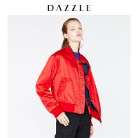 DAZZLE地素 新款 休闲宽松运动棒球衫式短款棉服外套 2F1H2021H