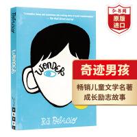 奇迹男孩 英文原版 Wonder 帕拉西奥 Palacio 当代经典畅销儿童英语文学名著 英文原著 英语读物 学生课外阅