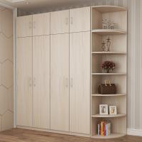 简约现代木质4门衣柜卧室整体定制组合柜子经济型板式大衣橱2/3门