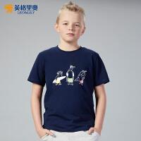 英格里奥夏装新款纯棉短袖T恤男童休闲半袖打底衫卡通动漫LLB9433