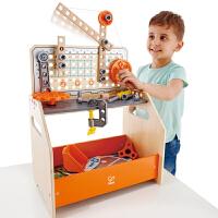 Hape科学物理实验台玩具4-10岁DIY拆装组装男女宝宝儿童早教益智玩具E3028