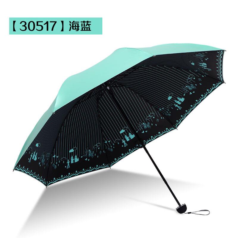 20190815042306368天堂伞遮阳伞防晒防紫外线三折叠雨伞女神创意太阳伞晴雨两用