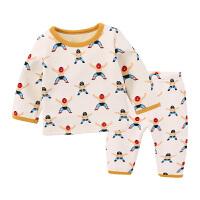 睡衣加绒季新款童装女童内衣两件套婴儿家居服宝宝保暖套装
