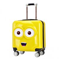 儿童行李箱可爱卡通儿童拉杆箱男女18寸旅行箱宝宝行李箱20寸万向轮小孩子登机箱 20寸大眼睛 3种表情 带密码锁 儿童