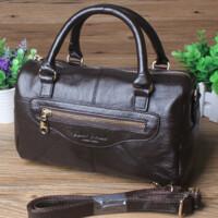 牛皮斜挎包 手提包 中老年人女包包 休闲单肩包手拿包
