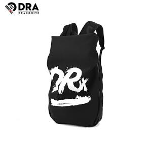 DRACONITE字母涂鸦印花复古潮牌双肩包男青年时尚休闲背包11245A
