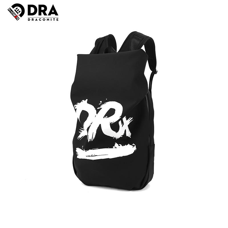【支持礼品卡支付】DRACONITE字母涂鸦印花复古潮牌双肩包男青年时尚休闲背包11245A