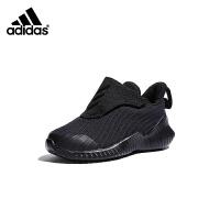 【4折价:147.6元】阿迪达斯(adidas)童鞋男女童冬款飞机款型魔术贴设计儿童运动鞋跑步鞋AH2640 黑色