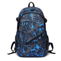 0307033129842双肩包男休闲电脑包高中初中学生书包女时尚潮流背包大容量旅行包