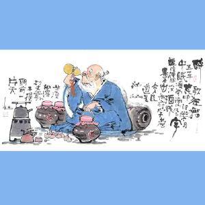 国内文与画俱佳的艺术家中国北方书画研究会常务理事国家一级美术师刘子玉(醉歌狂舞又一年)