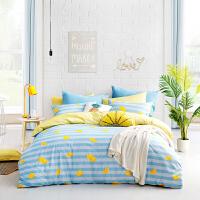 【9.21大牌日 1件3折】LOVO家纺 时尚全棉纯棉斜纹四件套 1.5/1.8米床 床上用品床单被套