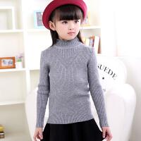 女童毛衣打底衫秋中大女童韩版加厚保暖儿童针织衫外套高领套头