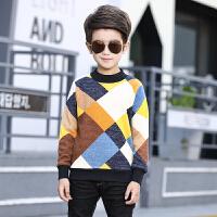 男童针织衫10中大童12打底衫岁加绒加厚毛衣套头款新款6中大童8 不规则-黄色