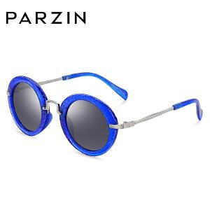 帕森儿童太阳镜彩膜眼镜 复古圆框潮墨镜男女宝宝偏光镜 2001