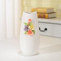 现代简约客厅 创意摆件家居装饰品陶瓷干花插花器花瓶花艺小清新 大号花瓶单个 无带花