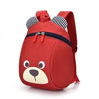 幼儿宝宝双肩小书包1-3岁儿童男女小孩防走失丢失可爱卡通背包潮 红色 熊