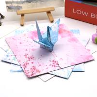正方形双面印花碎花唯美樱花儿童手工折纸彩色千纸鹤卡纸diy材料