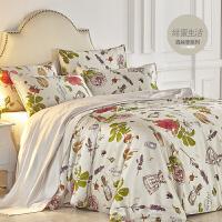 真丝四件套 100 桑蚕丝 丝绸被套床单 宽幅 婚庆床品套件