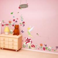 迪士尼正品墙贴 卧室 儿童房装饰背景墙贴 奇妙仙子