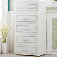 欧式抽屉式收纳柜塑料整理箱储物柜儿童衣柜宝宝衣物五斗柜