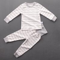 宝宝秋衣套装1-2-3岁儿童纯棉高腰护肚脐秋裤保暖内衣男女童睡衣