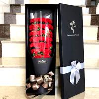 母亲节生日礼物女生送妈妈仿真肥香皂康乃馨玫瑰花束礼盒假花玫瑰