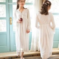 性感睡衣女夏蕾丝睡裙春薄纱蕾丝莫代尔家居服公主风夏天长款睡衣