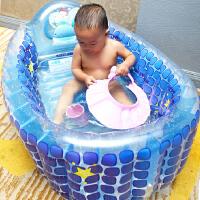 冬加厚保温婴儿充气浴盆宝宝洗澡盆 可折叠大号浴桶新生儿童浴盆