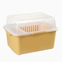 带盖沥水碗架/餐具收纳盒碗柜塑料厨房沥水碗架带盖碗筷餐具收纳盒放碗碟架滴水碗盘置物架