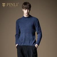 PINLI品立 2020春季新款男装半高领套头毛衣针织衫男S184310297