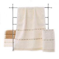 金号纯棉毛巾  毛巾2条 方巾1条家庭组合装(4120*2+4620)