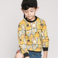 【到手价:44.75元】加菲猫童装男童印花单卫衣GGW17301