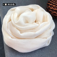 丝巾围巾女棉麻冬季春秋学生长款百搭日系 小清新保暖文艺白色