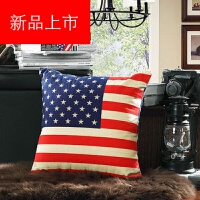 床头靠枕米字旗美式复古沙发抱枕靠垫套不含芯英伦风客厅定制