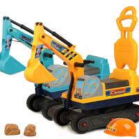 大号工程车儿童挖掘机挖土机可坐可骑钩机滑行车宝宝挖机玩具车