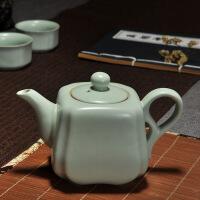 【家�b� 夏季狂�g】汝�G茶具茶�靥烨��亻_片可�B汝瓷陶瓷功夫家用茶道泡茶器 四方