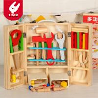 儿童工具箱木质拆装螺丝螺母组合益智玩具男孩修理工具仿真过家家