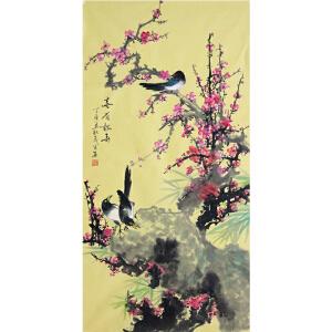 《喜梅报春》中国美协会员、 国家一级美术师林茂昌【真迹802】
