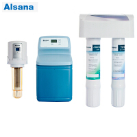 Alsana阿尔莎娜前置EST-ASF100全自动反冲过滤器智能控制+EST-R09 中央软水机 家用全屋中央软化机+