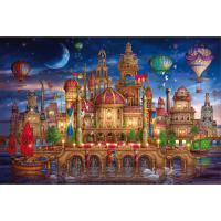 成人1000片木质拼图500儿童城堡卡通益智玩具礼物 魔法世界