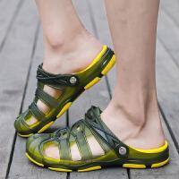 韩版潮流透气半拖鞋男大码凉鞋夏季休闲男士洞洞鞋沙滩鞋