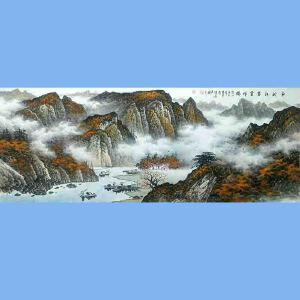 中国美术协会会员,广西省美术家协会理事,国家一级美术师蒋清(金秋江岸云祥瑞)
