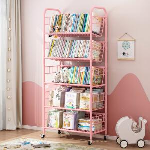 柏易 环保加厚加深款经典钢木书柜 小户型多层书橱组合书架置物架货架展示架
