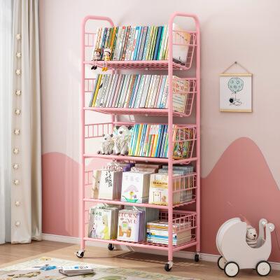 柏易 环保加厚加深款经典钢木书柜 小户型多层书橱组合书架置物架货架展示架支付礼品卡 标准烤漆 安装超简单