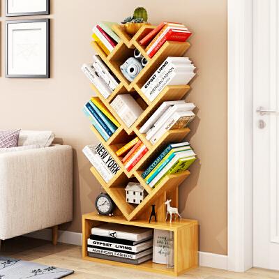 【用券立减120元】亿家达简易树形书架落地书柜学生创意置物架子飘窗储物架创意书橱